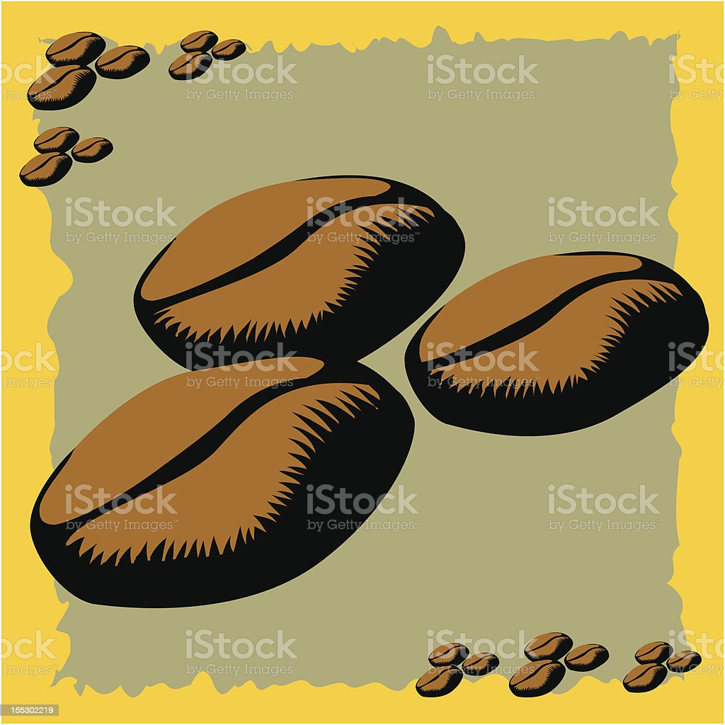 Stylized Coffee Beans royalty-free stock vector art
