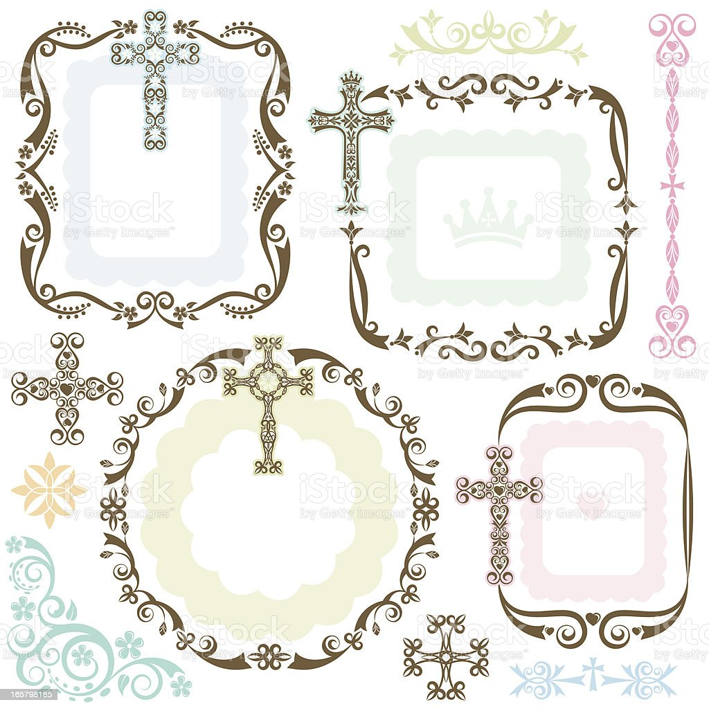 Stylized Cross Frames Stock Vector Art & More Images of Angle ...