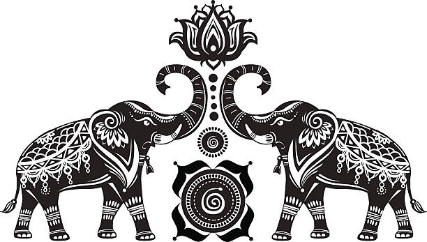 Decorated Elephant Illustrations, Royalty-Free Vector ...