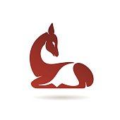 Stylized doe icon