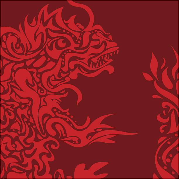 stylized dragon tattoo - dragon eye stock illustrations, clip art, cartoons, & icons