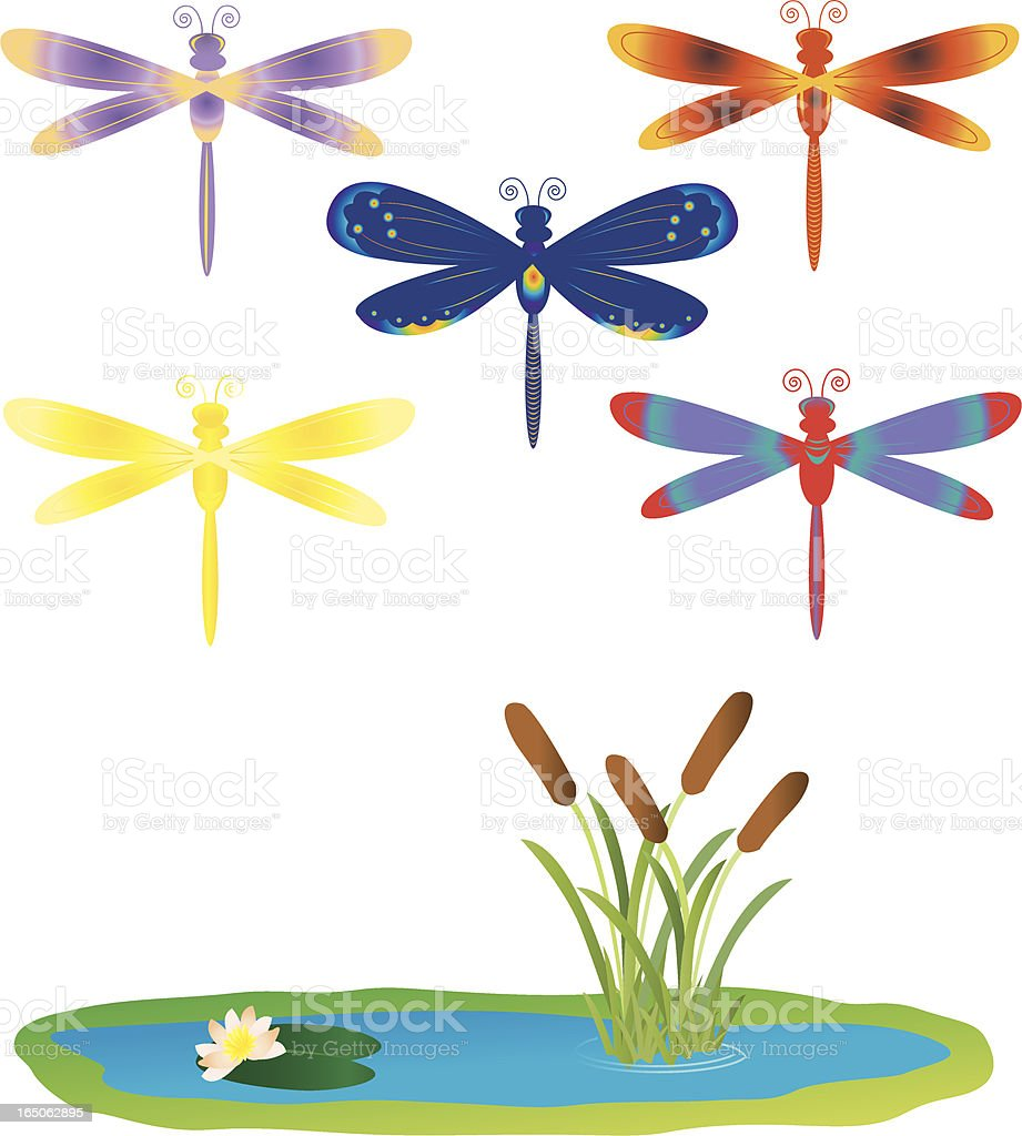 Stylized Dragonflies royalty-free stylized dragonflies stock vector art & more images of animal