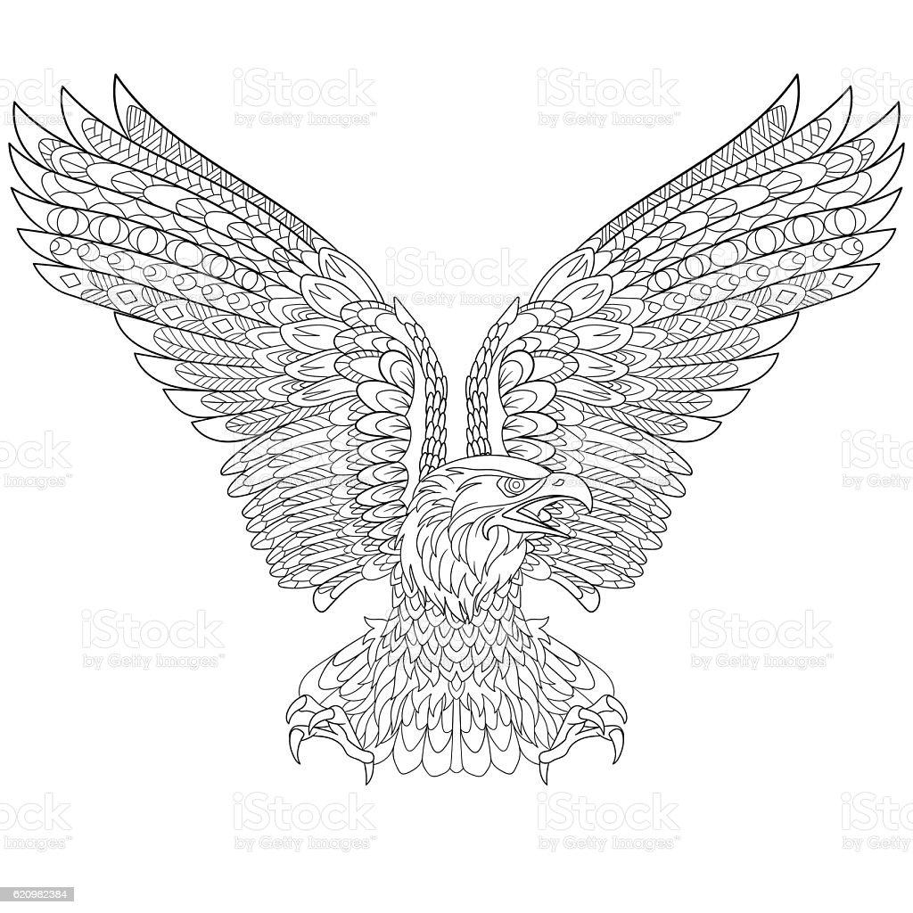 Stylized eagle bird ilustração de stylized eagle bird e mais banco de imagens de animal royalty-free