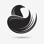 Stylized Eagle or Phoenix icon
