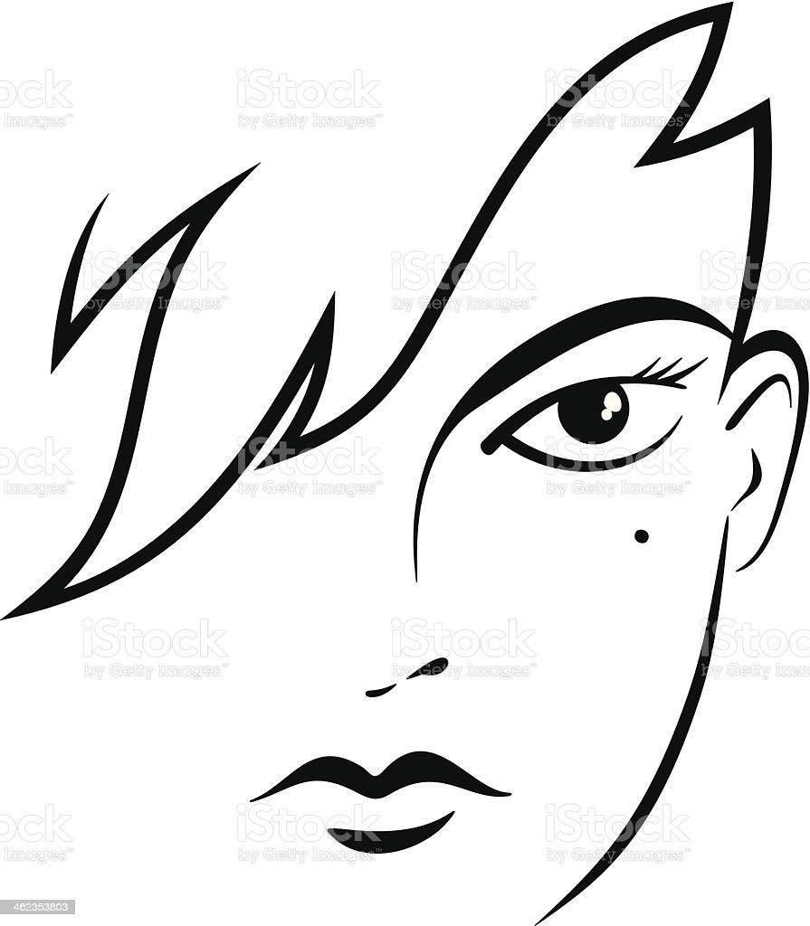 Stilizzato Volto Femminile Immagini Vettoriali Stock E Altre Immagini Di 16 17 Anni Istock