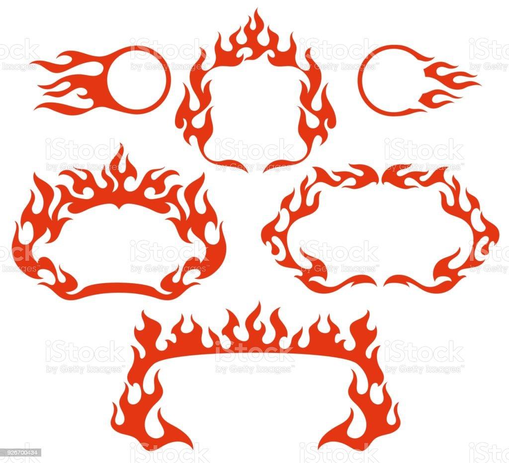 Stilisierte Feuer Flamme Vektor Rahmen Stock Vektor Art und mehr ...