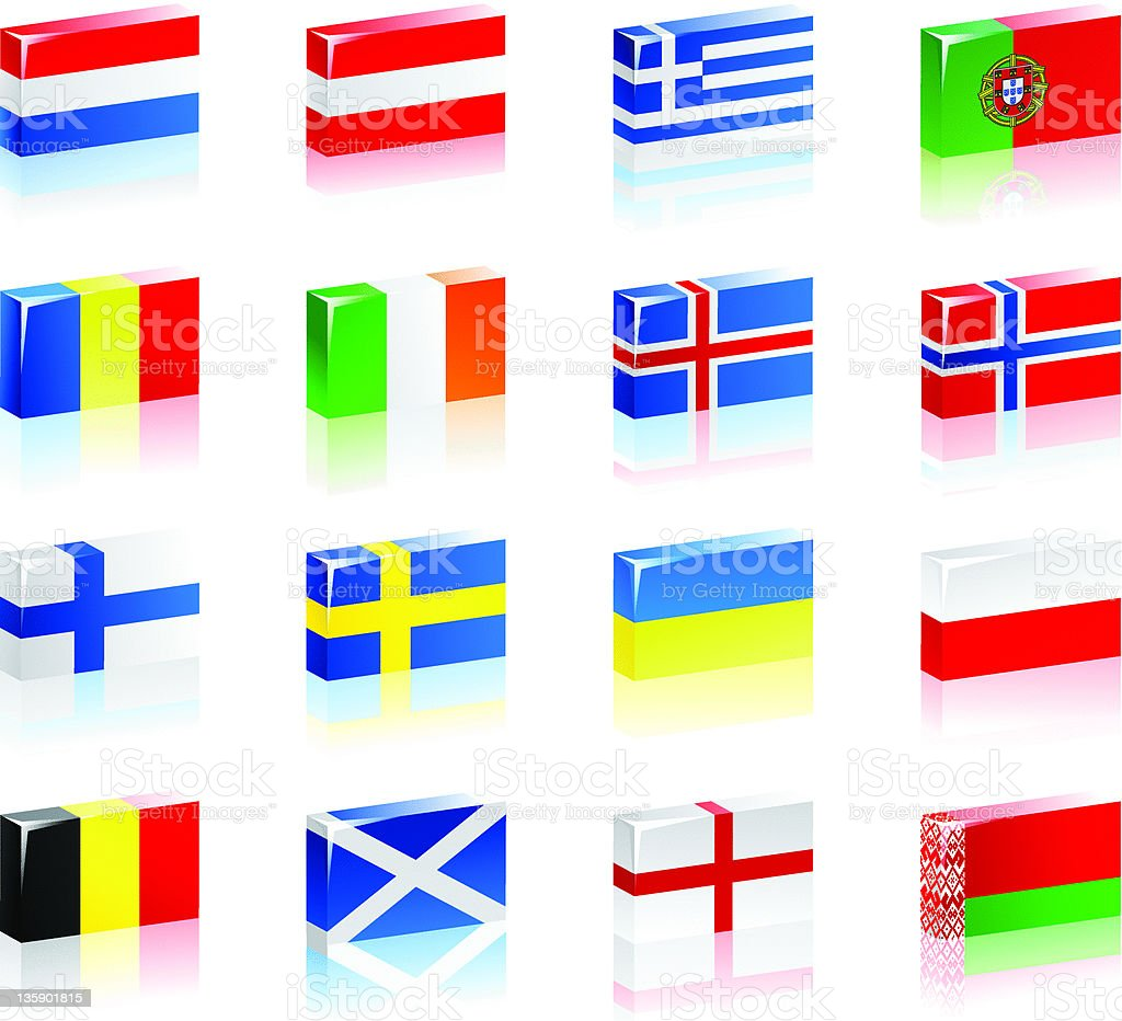 Stylized Flags royalty-free stock vector art