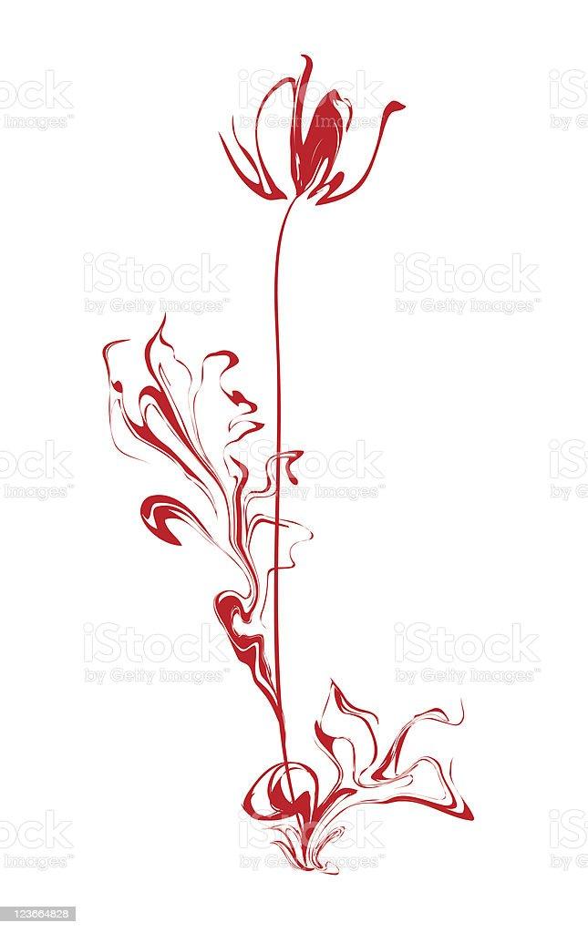 Stylized flower royalty-free stock vector art