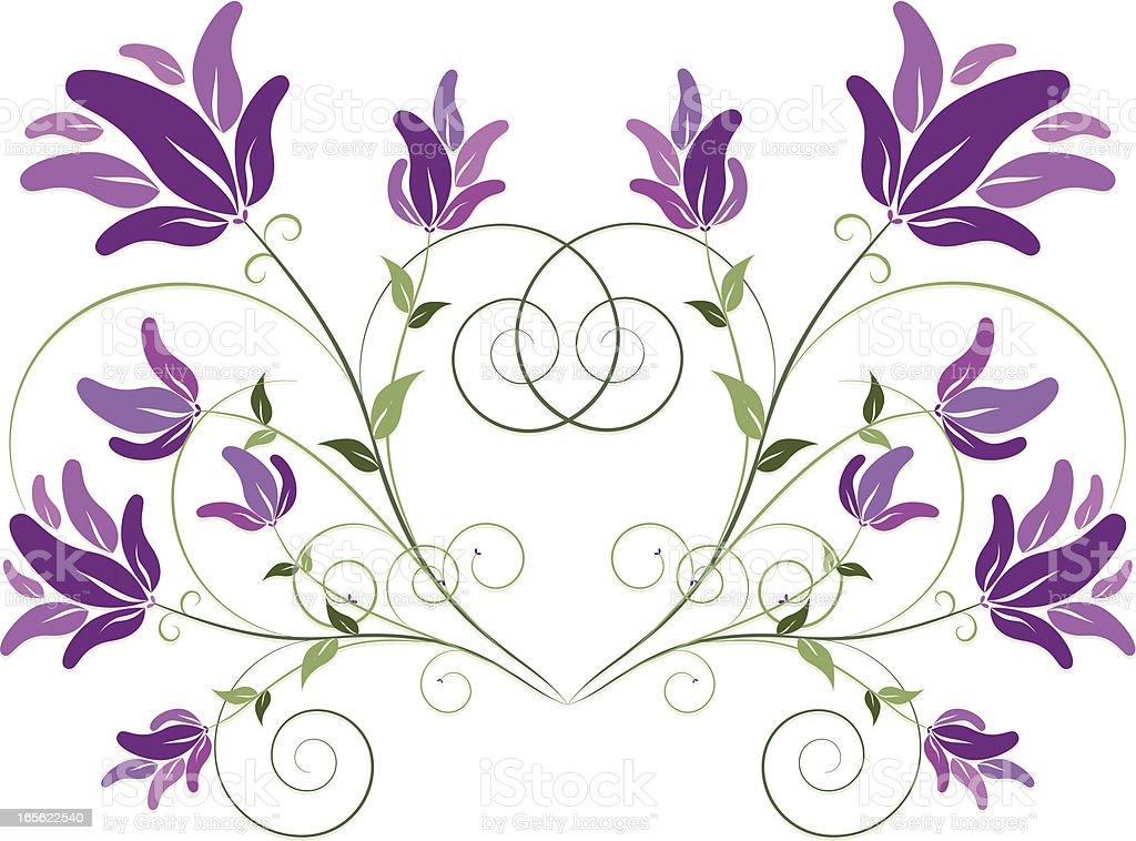 Stilizzata di foglie e fiori disegno floreale e bordo for Fiori stilizzati colorati