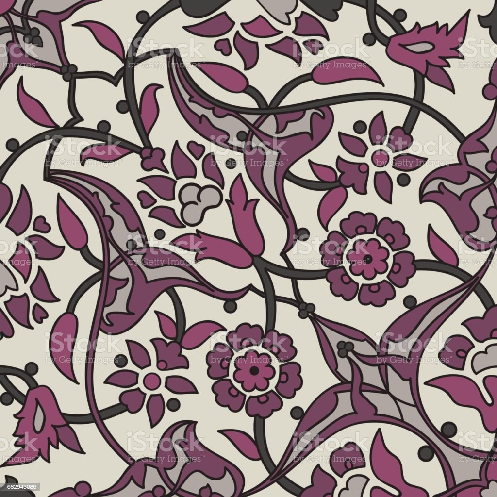 Stylized flowers oriental wallpaper retro seamless abstract background vector, decoration tile print oriental tribal floral ornament paisley, arabesque floral pattern tile vintage royalty-free stylized flowers oriental wallpaper retro seamless abstract background vector decoration tile print oriental tribal floral ornament paisley arabesque floral pattern tile vintage stock vector art & more images of abstract