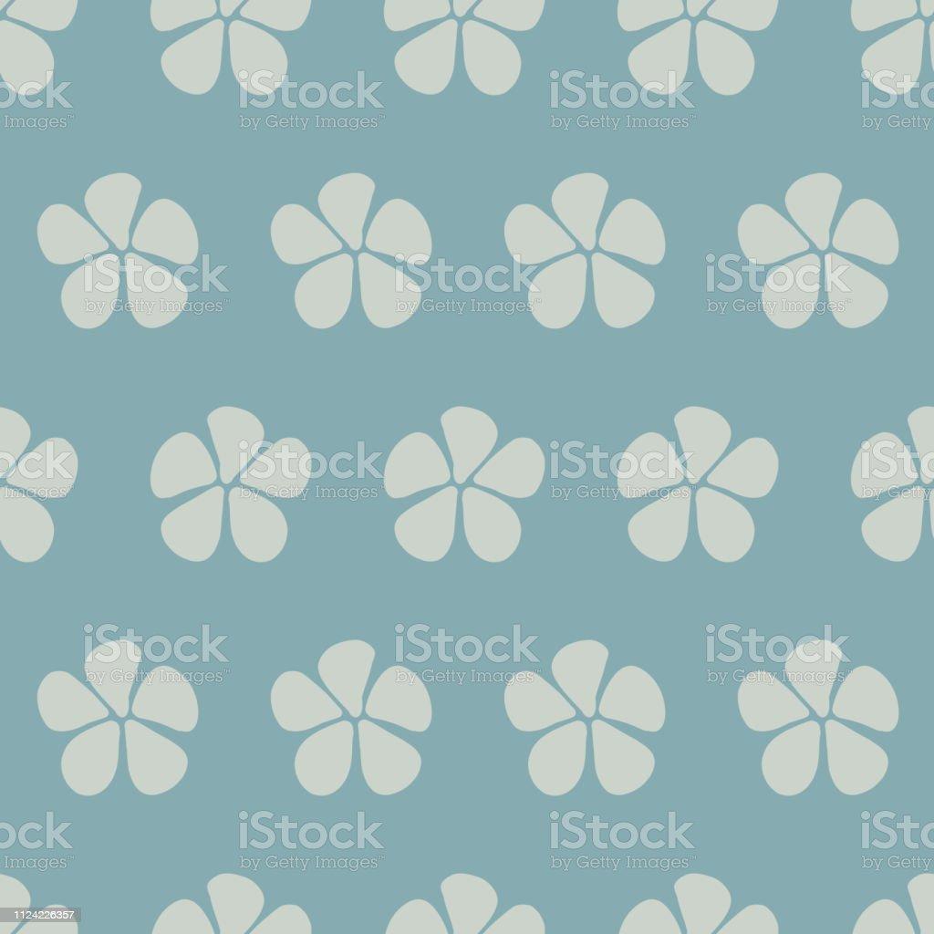 Dessin Fleurs Stylisées Vecteur Transparente Bleu Vecteurs