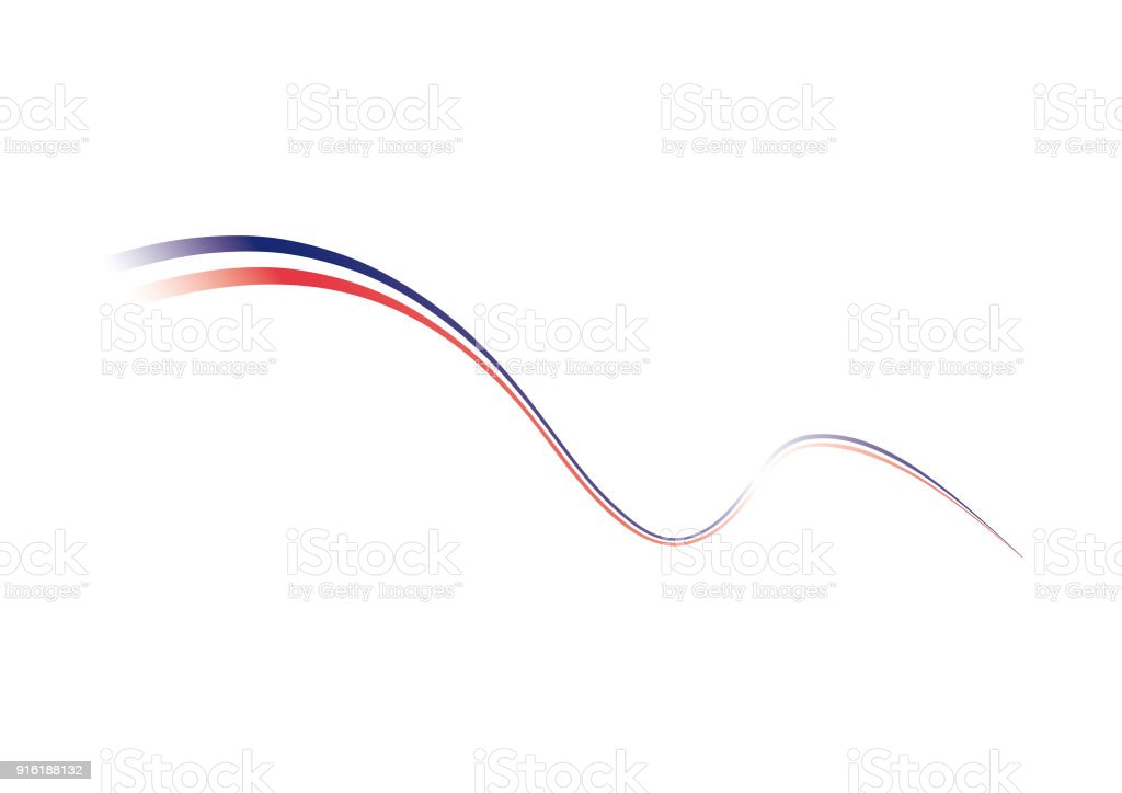 Stylized french flag. French flag, tricolor. vector art illustration