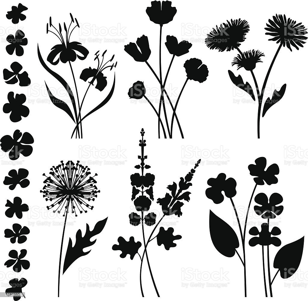 Fleurs Stylisées jardin de fleurs stylisées – cliparts vectoriels et plus d'images de