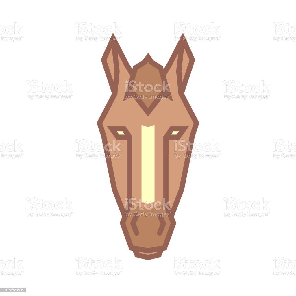 Stylized Geometric Horse Head Illustration Vector Icon Tribal Design Stock Illustration Download Image Now Istock
