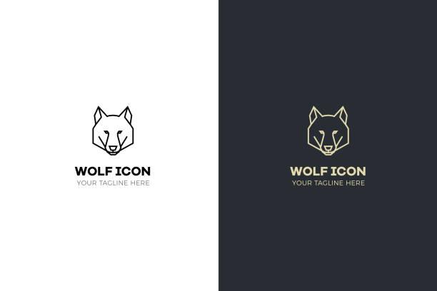 illustrazioni stock, clip art, cartoni animati e icone di tendenza di stylized geometric wolf head illustration. vector icon tribal design - lupo
