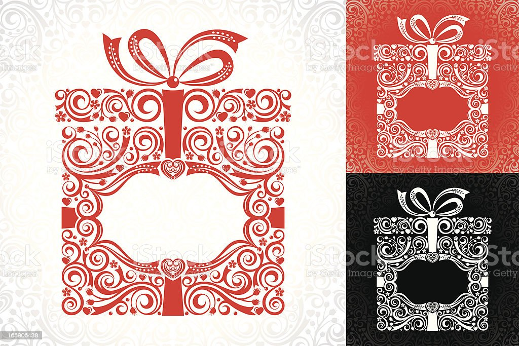 Stylized Gift Boxes royalty-free stock vector art