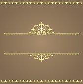 Vector illustration of Italian gold ornamental banner. Visit Portfolio for More Seamless Background and Borders Series Lightbox