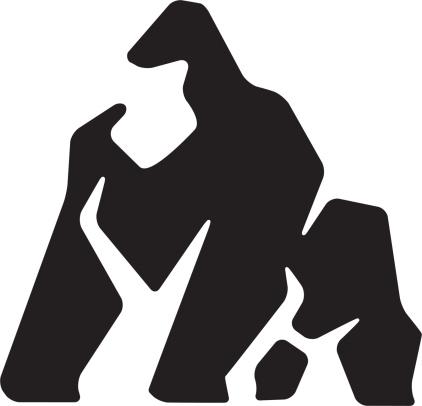 stylized gorilla design