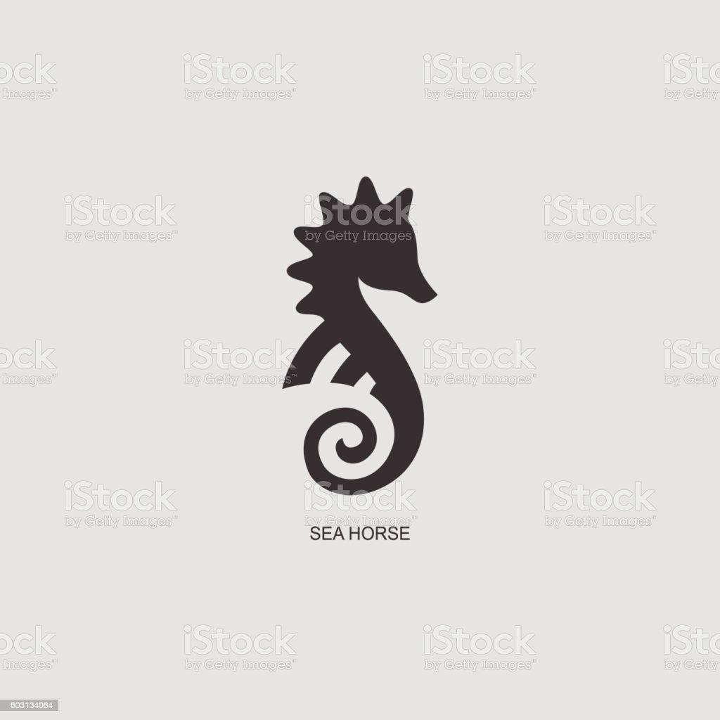 graphisme stylis hippocampe illustration de silhouette de. Black Bedroom Furniture Sets. Home Design Ideas