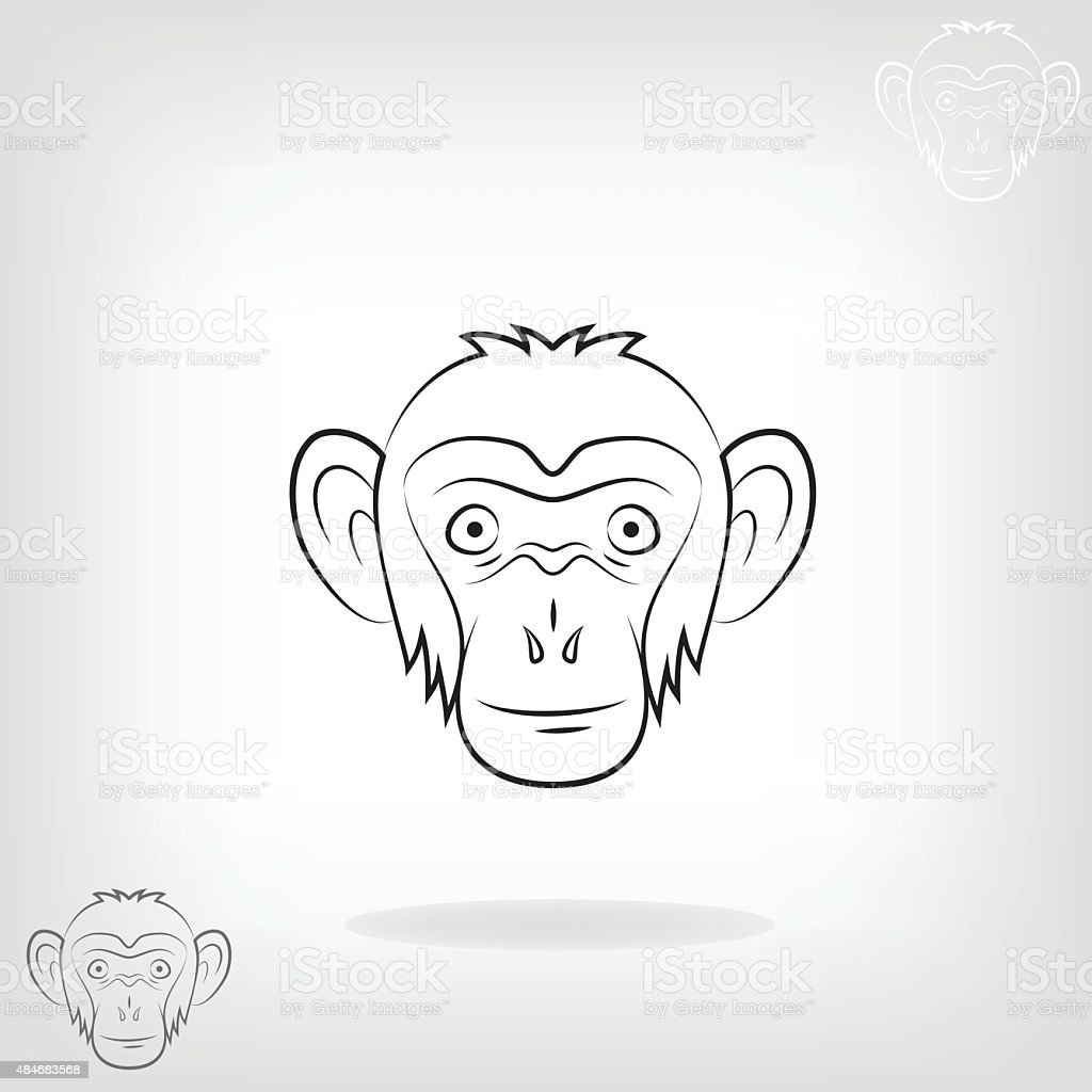 9f84290b4 Stylized Head Of A Monkey Stock Vector Art & More Images of 2015 ...