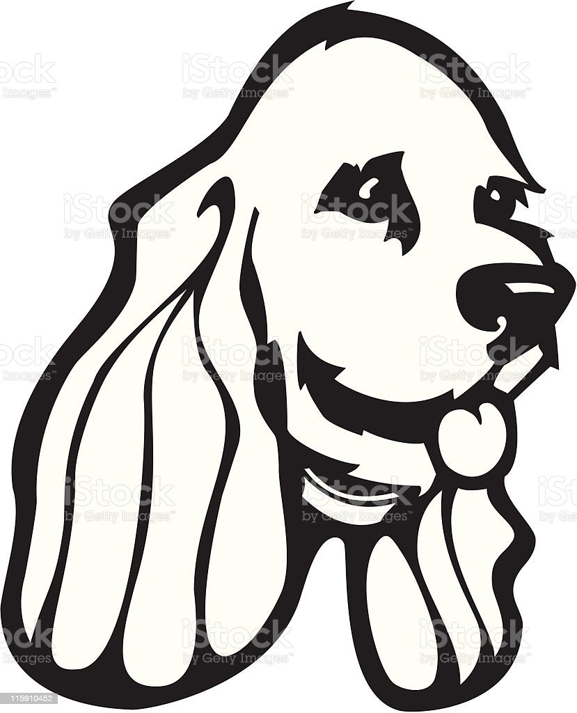 Stylized Head of Cocker Spaniel royalty-free stock vector art