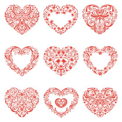 Stylized Heart Set