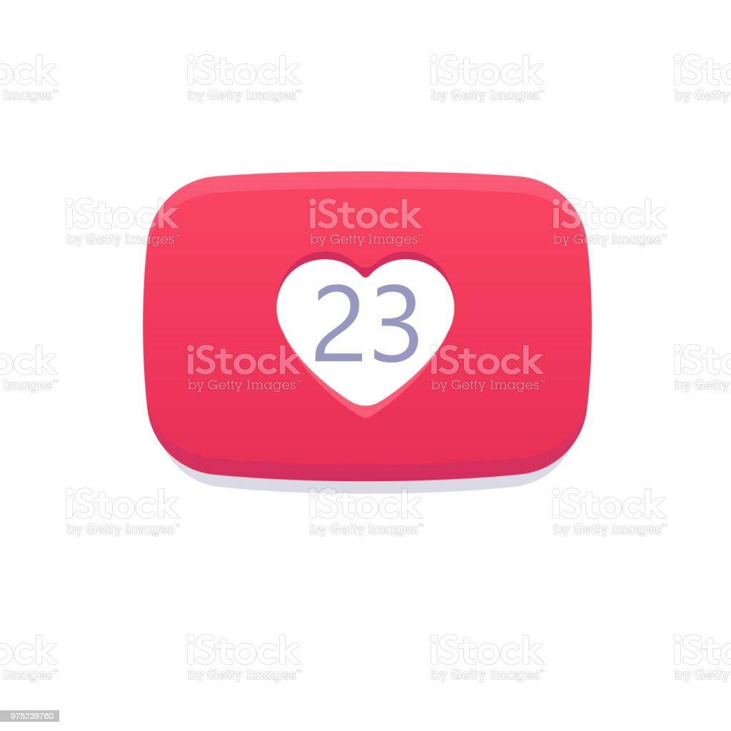 番号様式化された心デザイン レイアウトのアイデアyoutube 通知アイコン