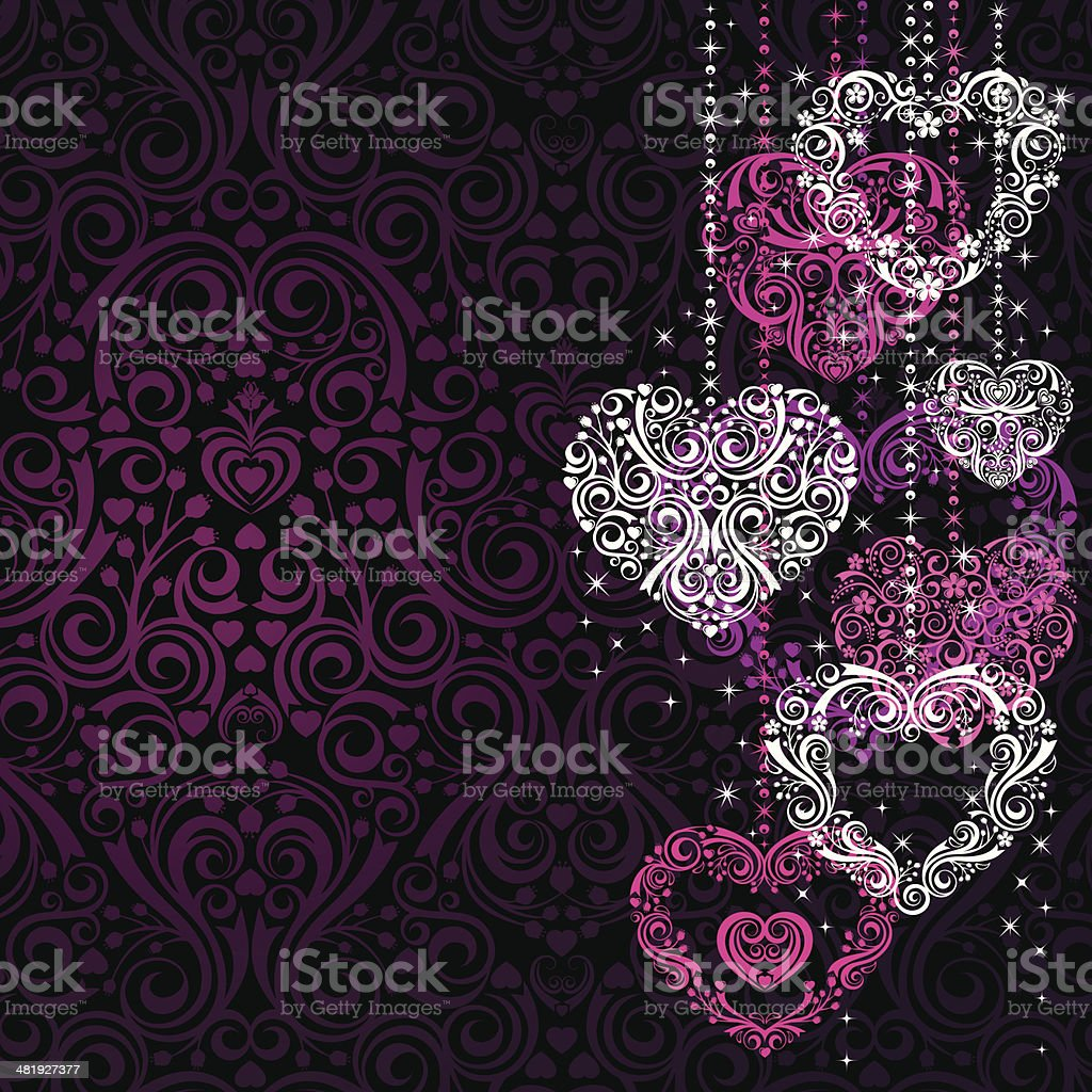 Stylized Hearts royalty-free stock vector art