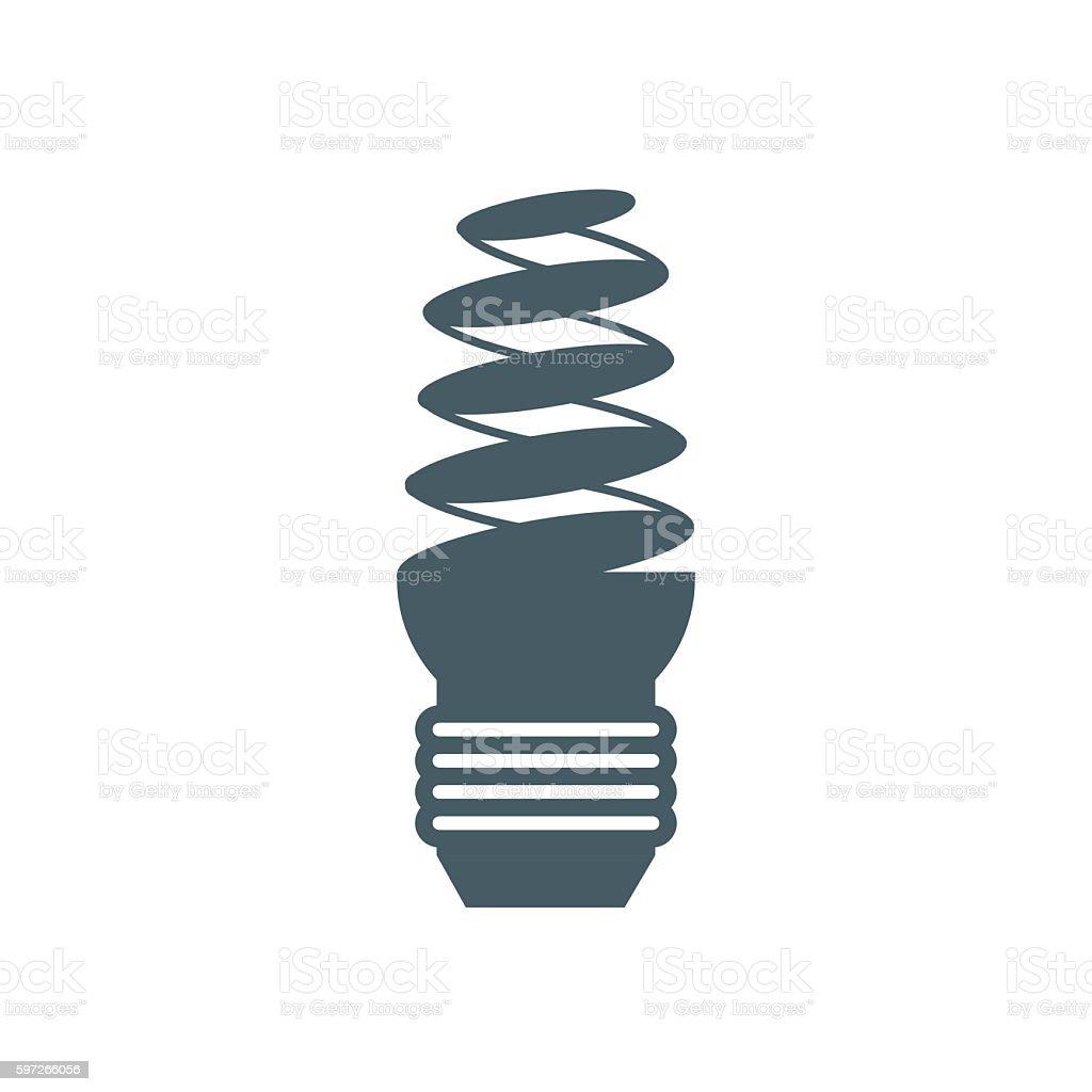 Stylized icon of light bulb on white background Lizenzfreies stylized icon of light bulb on white background stock vektor art und mehr bilder von computergrafiken