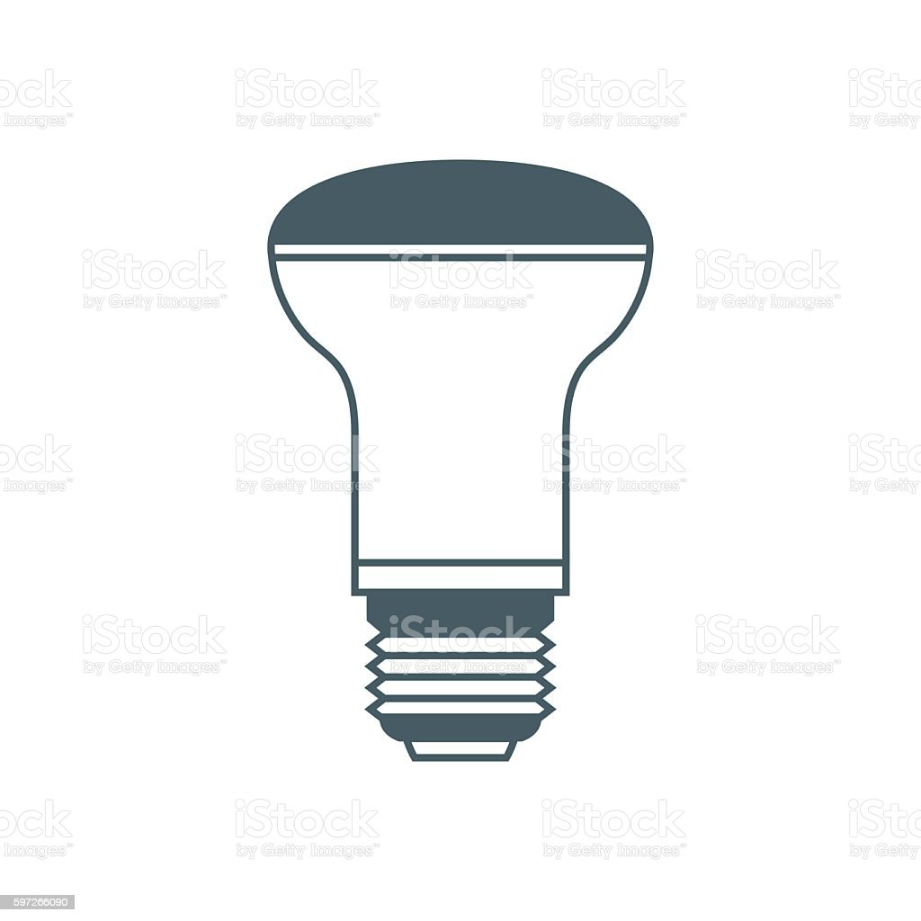 Stylized icon of light bulb on white background royalty-free stylized icon of light bulb on white background stock vector art & more images of computer graphic