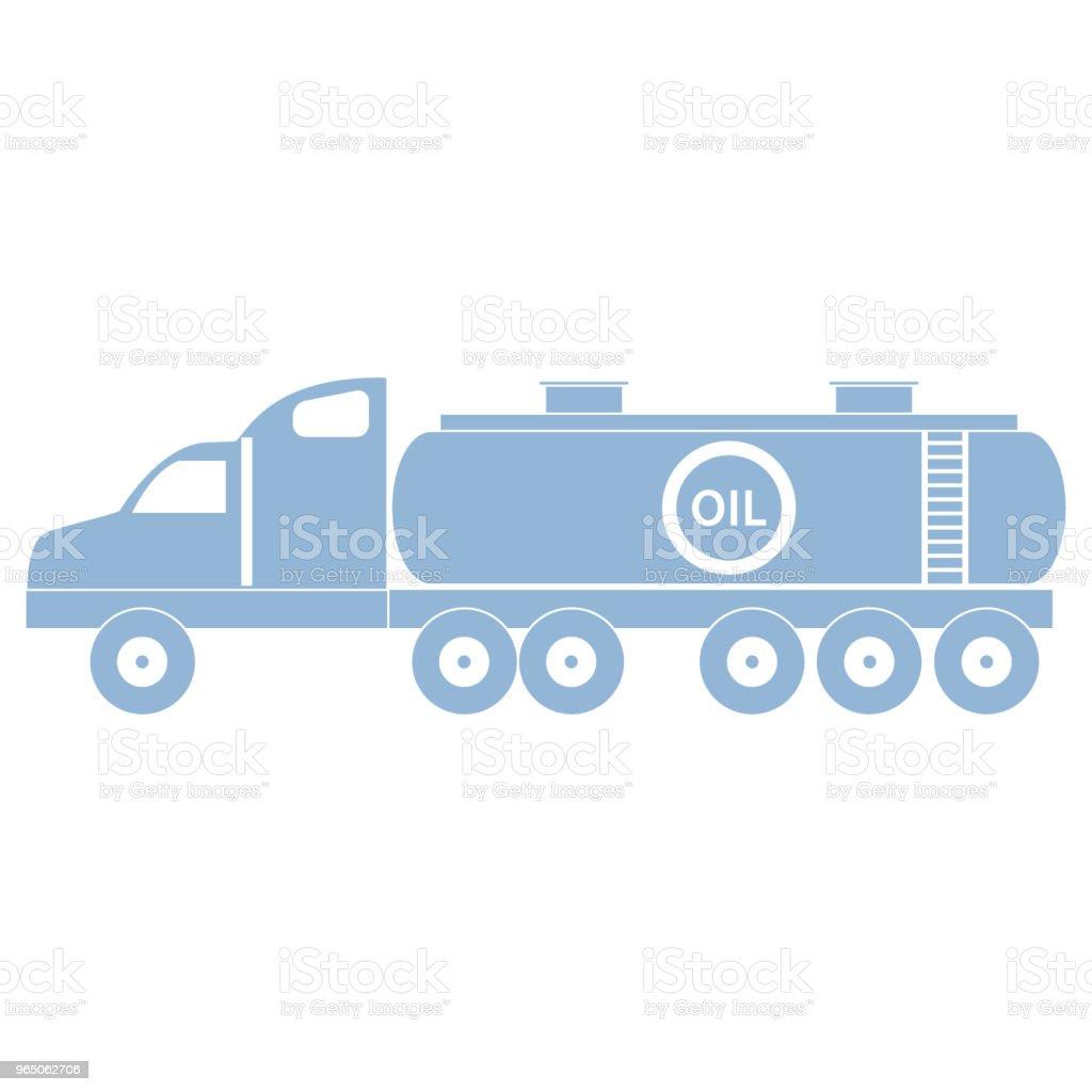 Stylized icon of the oil tanker/fuel tanker stylized icon of the oil tankerfuel tanker - stockowe grafiki wektorowe i więcej obrazów benzyna royalty-free