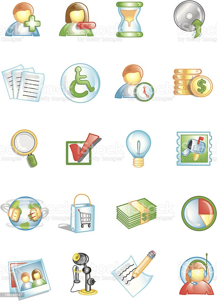 Stylized Icons 2 royalty-free stylized icons 2 stock vector art & more images of box - container