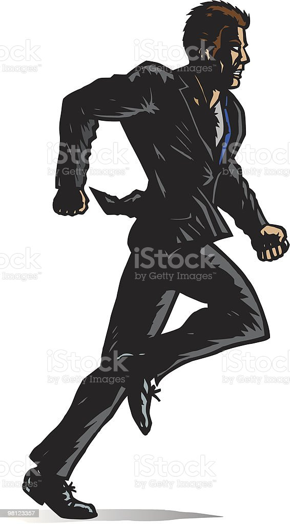 Stylized Man running royalty-free stylized man running stock vector art & more images of adult