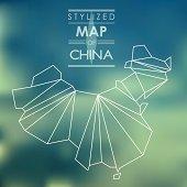 Stylized map of China