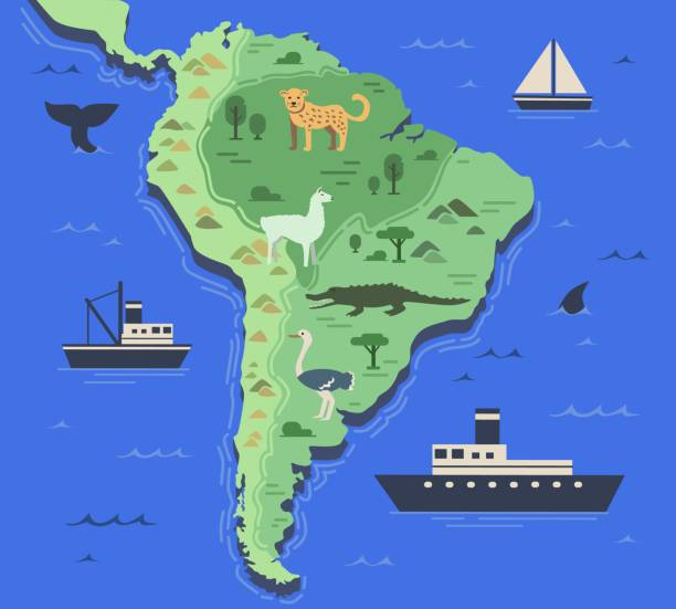 Best Map Of Andes Mountains Illustrations, Royalty-Free ...