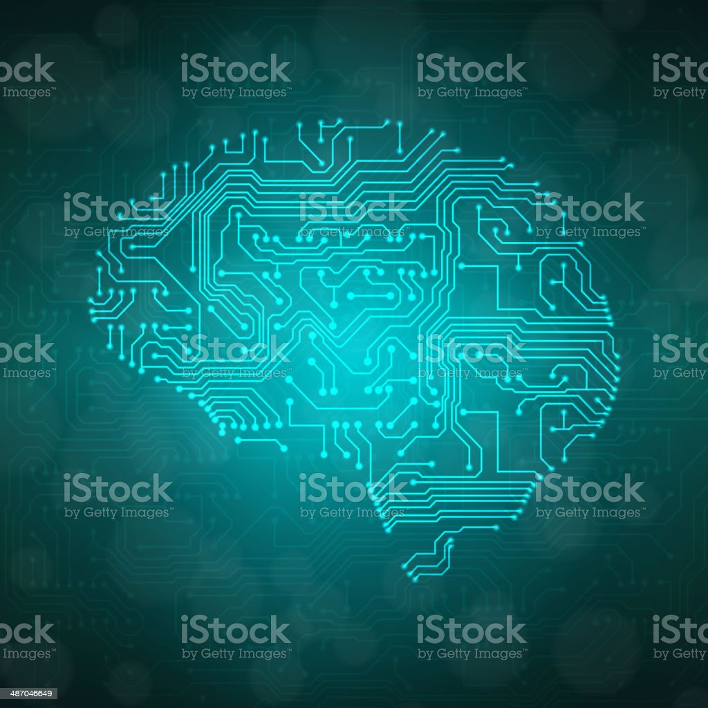 Stylized mind vector art illustration
