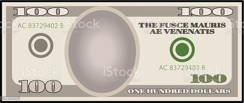 Stylized Money vector art illustration