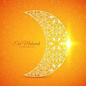 A stylized moon graphic for the Eid Mubarak Islamic festival