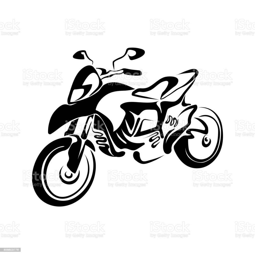 stylized motorcycle stock vector art more images of art 856603776 rh istockphoto com motorcycle rider vector art harley motorcycle vector art