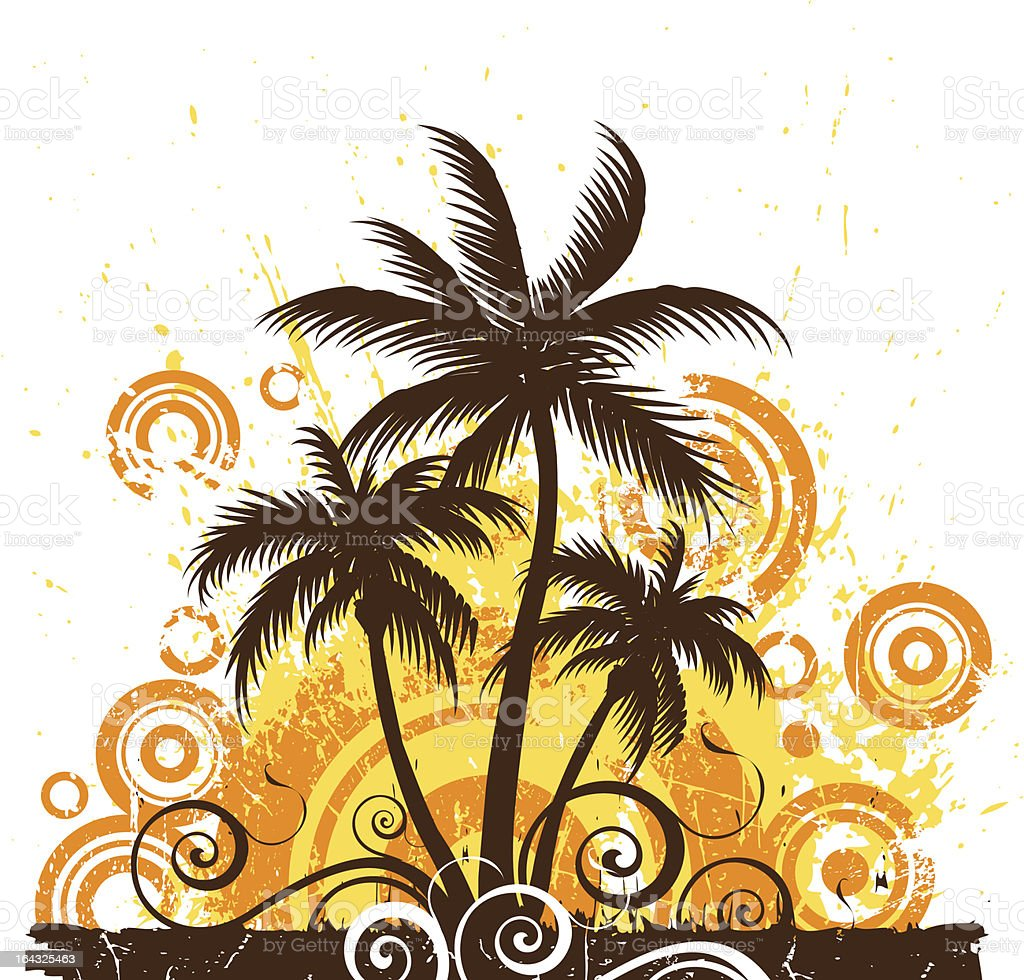 Stylized palm trees royalty-free stock vector art