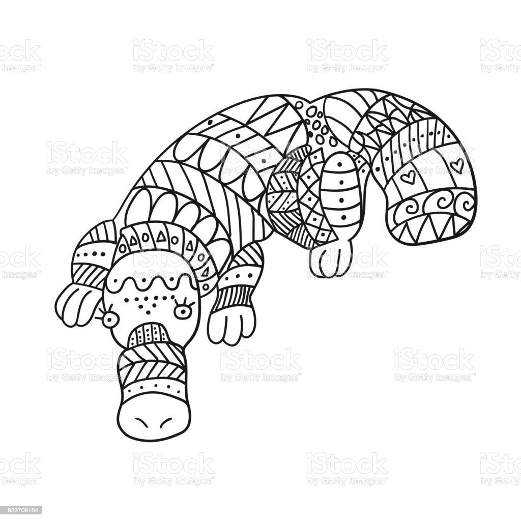 Stylized Platypus Isolated On White Background Stock Vector Art ...