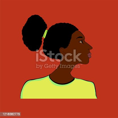 istock Stylized portrait of a girl of African type -Falashi 1218382775
