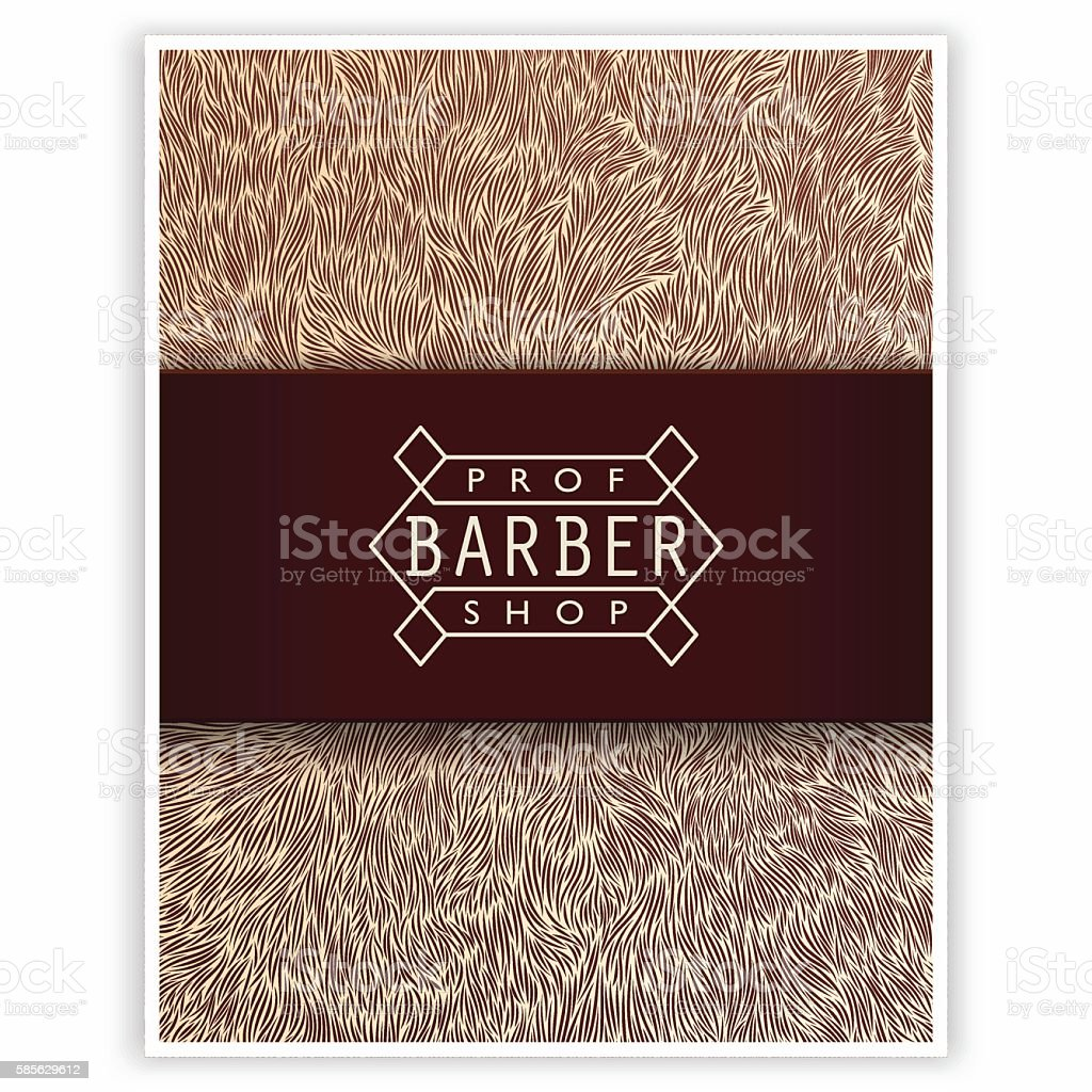 Stylized poster for Barbershop vector art illustration