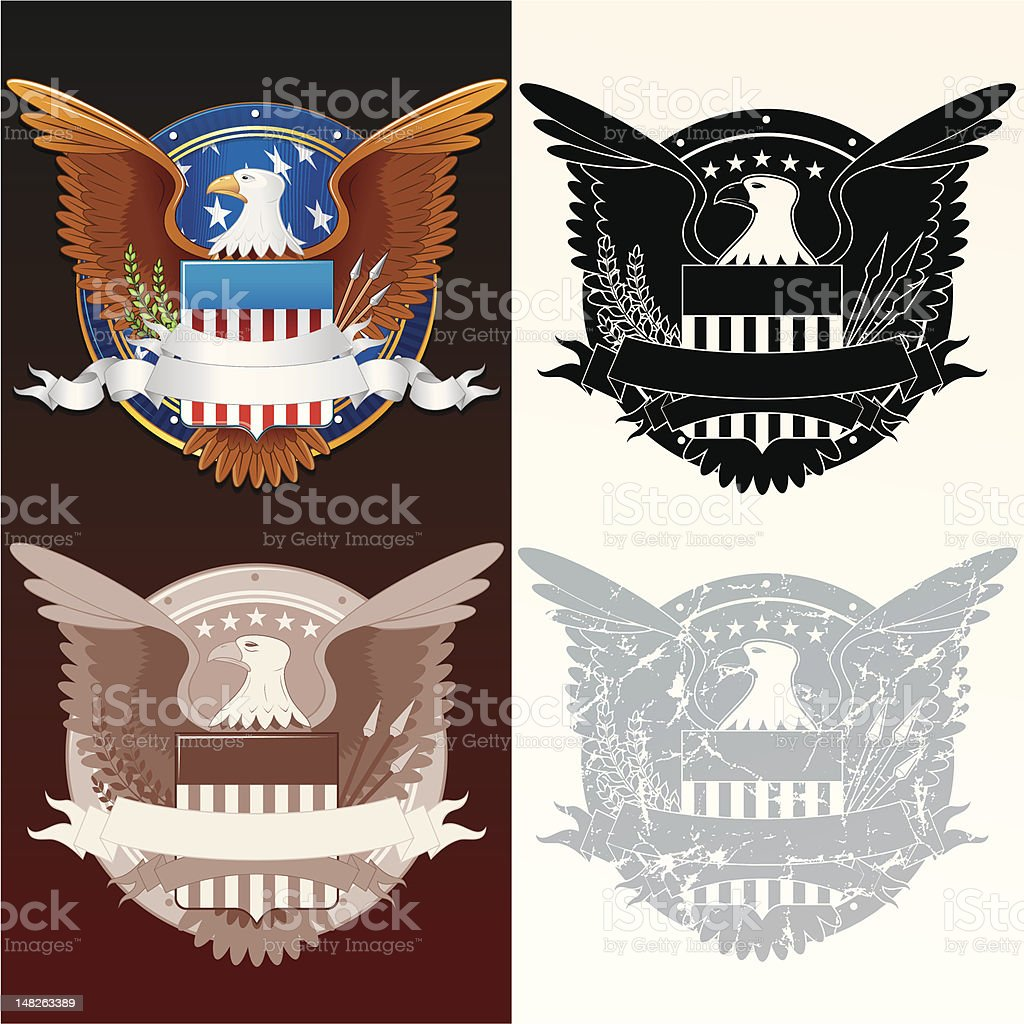 Stylized Presidential Seal vector art illustration