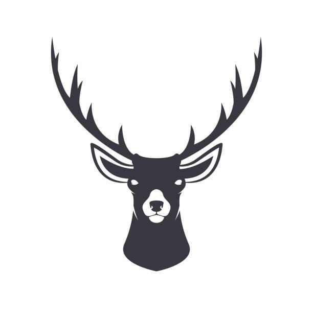 Stylized reindeer head. Vector illustration. vector art illustration