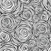 Stylized roses seamless pattern