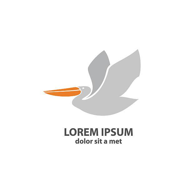 stockillustraties, clipart, cartoons en iconen met stylized silhouette of a pelican - wildplassen