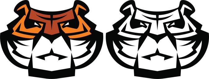 Stylized tiger mascot