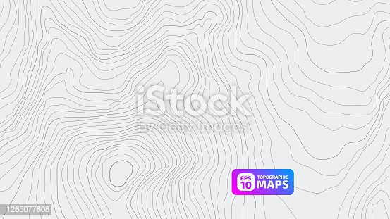 Stylized height of the topographic contour in lines and contours. Beautiful background, picture. Design for location. Concept of conditional geographical pattern and topography. Vector illustration