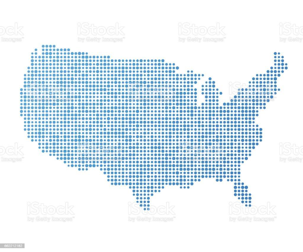 Stylized USA map